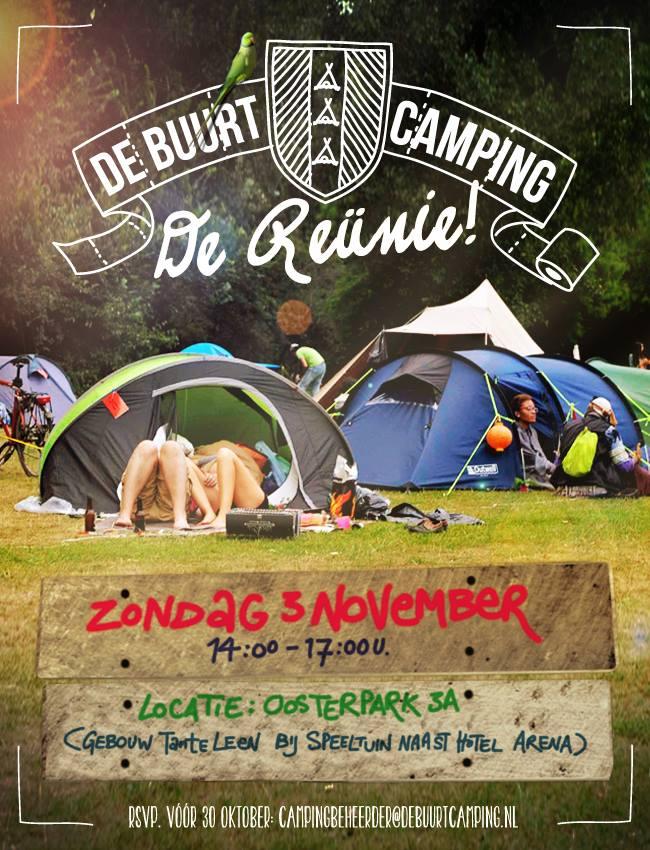 Uitnodiging 3 November: Reünie De Buurtcamping