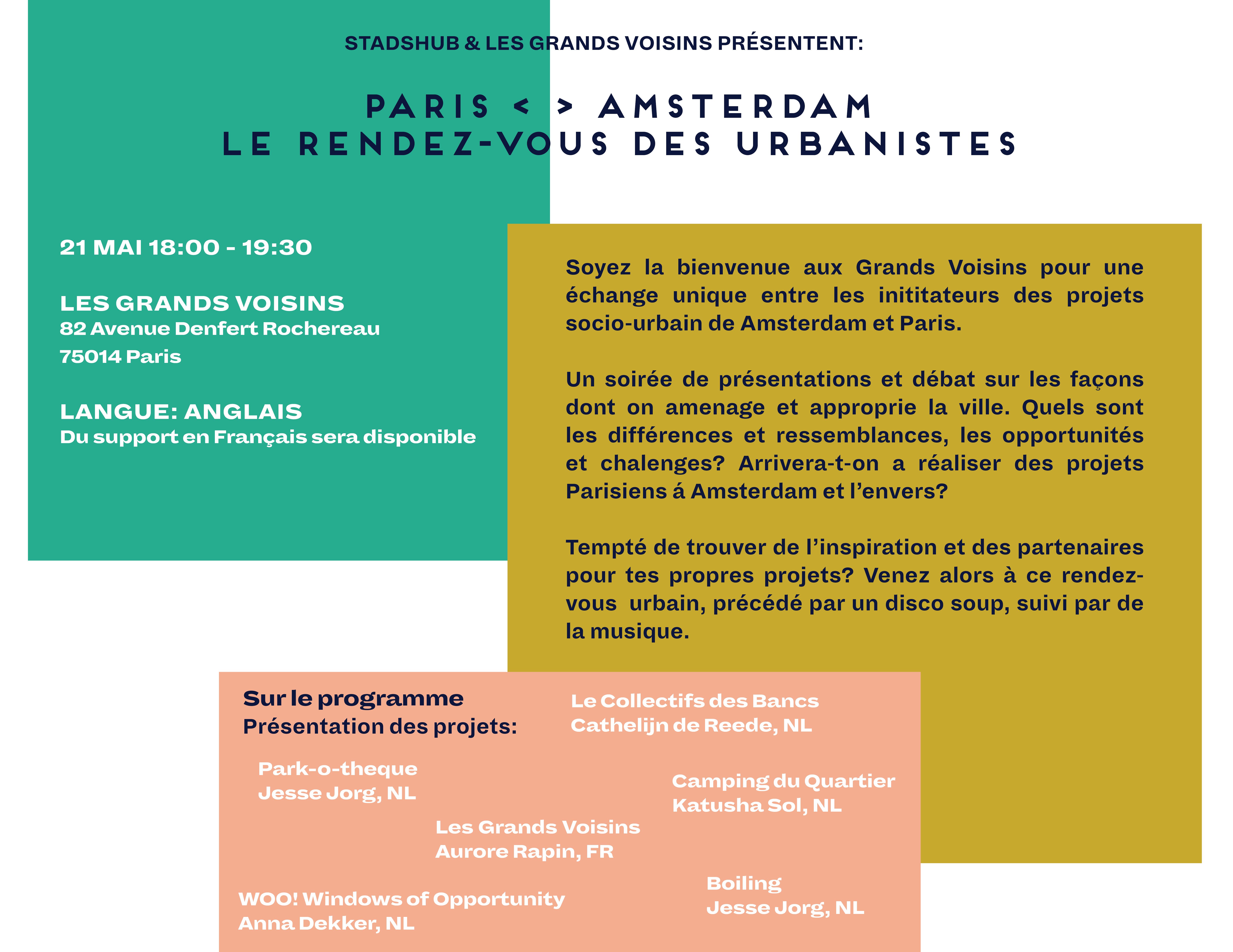Rendez-vous Stadsmakers Amsterdam & Paris
