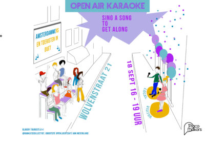 Bloody Tourist @bankjescollectief: Open Air Karaoke